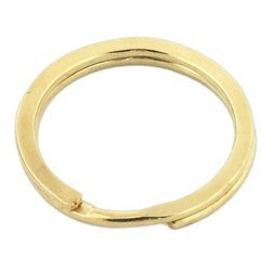 Kółka płaskie do kluczy breloków 20 mm 10 szt. złote