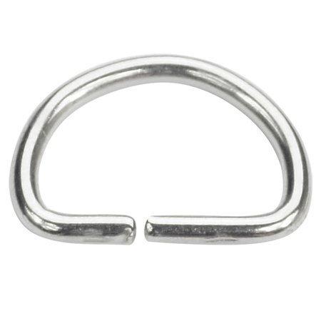 Półkółka kaletnicze do torebki szelek kombinezonu paska 12 mm srebrne 100 szt.